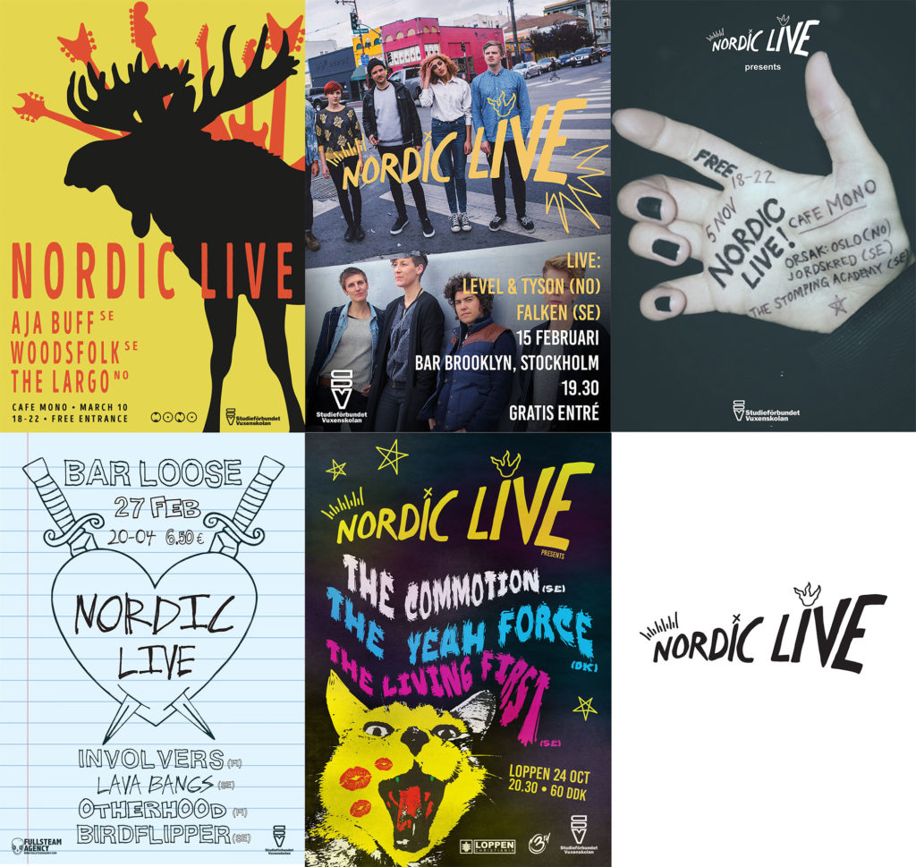 Nordic Live - show posters